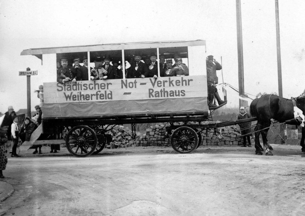Pferdebahn Weiherfeld 1920-21